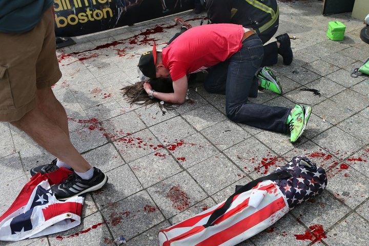 Explosions At 117th Boston Marathon