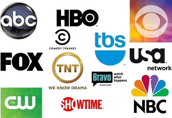 ABC, HBO, COMEDY CENTRAL, TNT, CW, NBC, USA, TBS, CBS, BRAVO, FOX, SHOWTIME